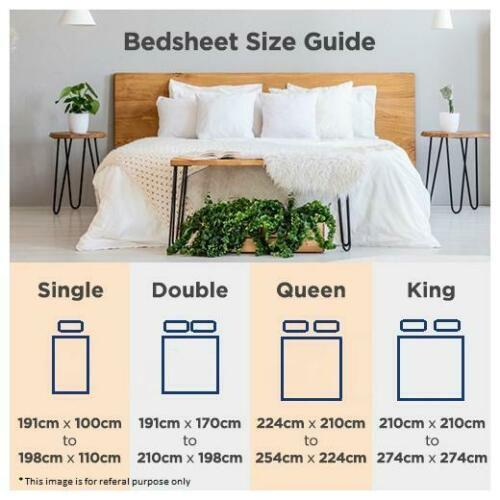 2 Pillow case-Multi -4Fz Details about  /Laying Style Cotton Full Bedsheet