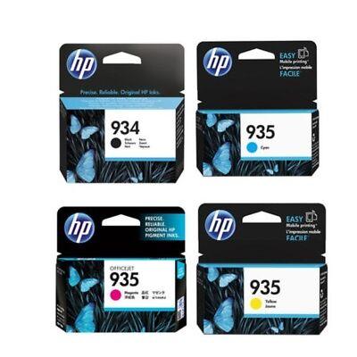 HP Genuine / Original Black & Colour 4 Ink Cartridge Set for OfficeJet Pro 6830