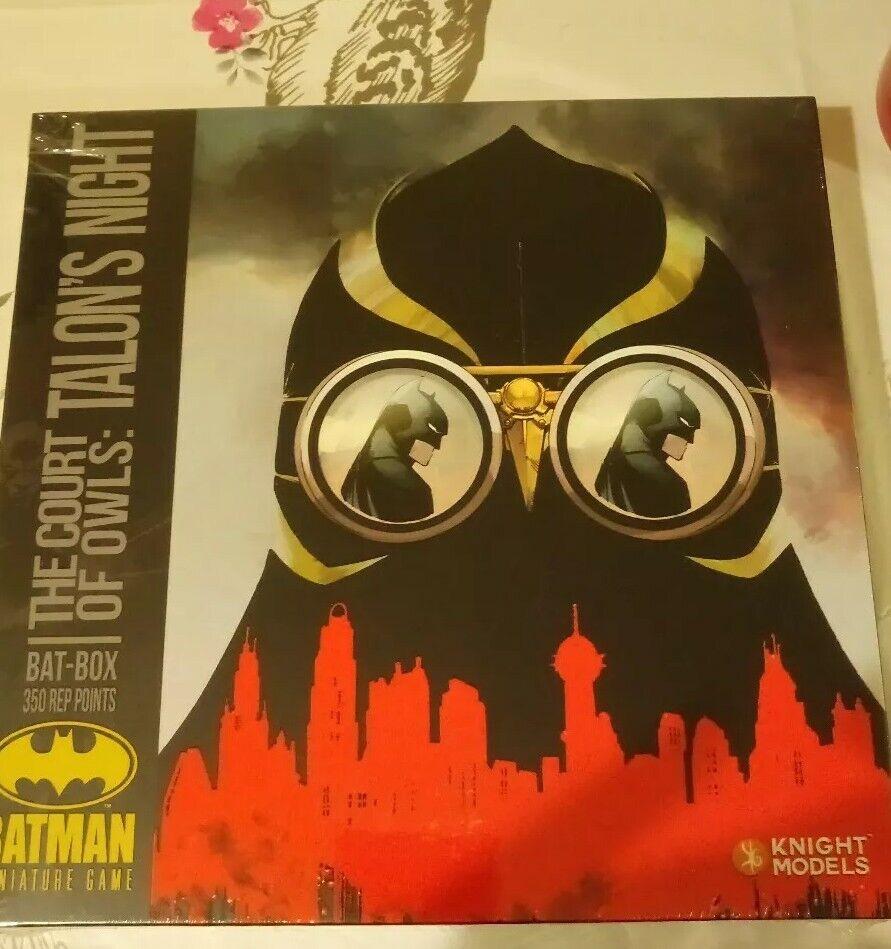 BATMAN IN MINIATURA GIOCO bat-box ARTIGLI NOTTE Knight Models NUOVO e SIGILLATO