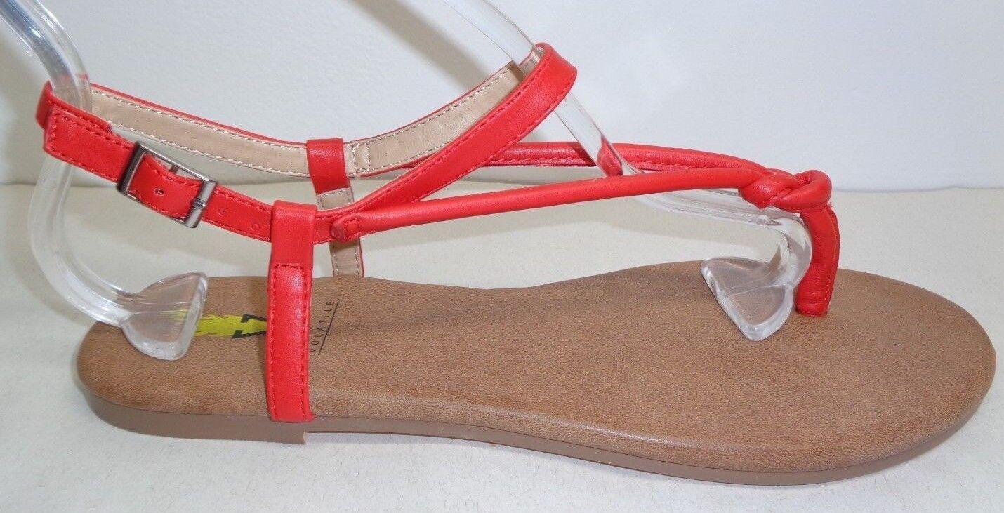 Volátiles Talla 8 Laury Rojo Rojo Rojo Charol Sandalias nuevo Zapatos para mujer tanga  buena reputación
