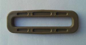 "4 X Nexus Tan 500 Tex IRR 50 mm/2"" Plastique Carré Bague Boucles Sangle SQ50 Repa  </span>"