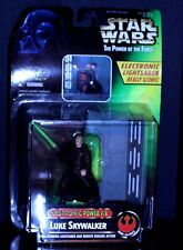 STAR WARS ELECTRONIC POWER F/X POTF LUKE SKYWALKER glowing LIGHTSABER DUELING