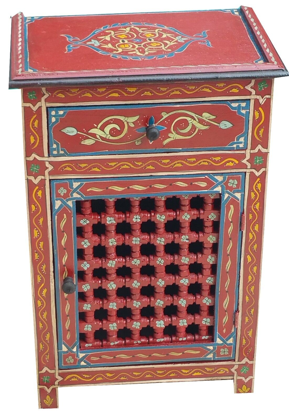 MGoldccan Night Stand Table Wood Armoire Moorish Middle East Mediteranean Dresser