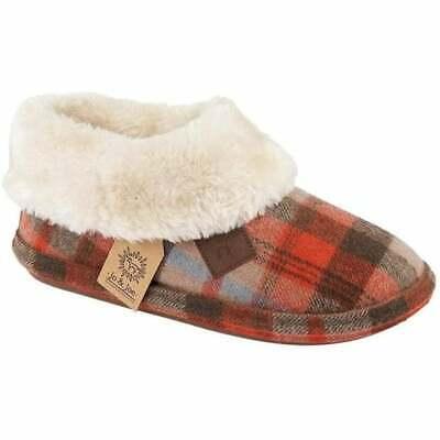 Ladies Girls Jo /& Joe Chiltern Fur Lined Fur Collar Slipper Boot Asst Colours