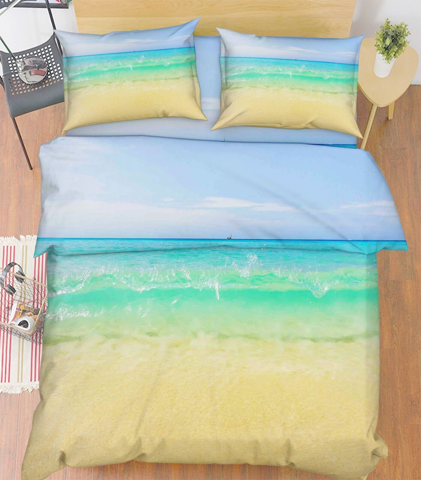 3D Sky Surf Beach 688 Bed Pillowcases Quilt Duvet Cover Set Single Queen King CA