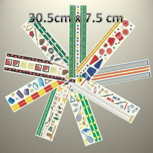 "Creative Memories GREAT LENGTHS BORDER 12/"" X 3/"" SPORTS STICKER VARIETY TO PICK"