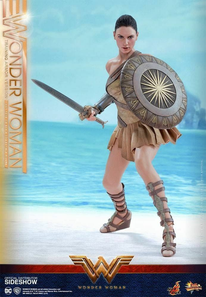 HOT TOYS 1 6 SCALE WONDER WOMAN TRAINING OUT FIT FROM THE FILM COLLECTORS FIGURE