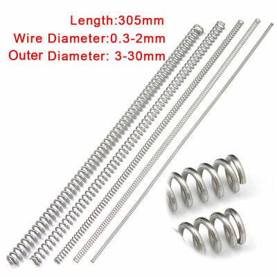 1,5 mm Druckfeder 5-305 mm Länge 304 Edelstahl Druck Kleine Federn Alle Größe