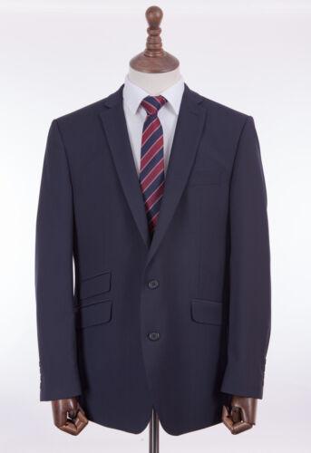 Men/'s Suit British Tailor Navy Blue Tailored Fit 42R W36 L31
