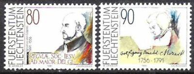 Postfrisch Liefern Liechtenstein Nr.1013/14 ** Gedenktage 1991 Europa
