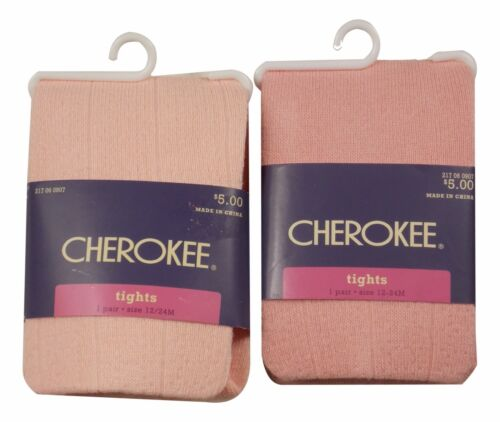 Cherokee Kids Tight Piglet Pink Sizes 0-6 Month 6-12 /& 12-24 Month Tights