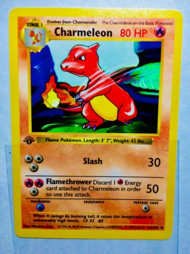 pokemon base set 1st edition Charmeleon 24102 Ultra Rare mint condition!
