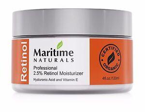 2.5% Retinol Cream, hyaluronoic acid,Vitamin A anti-aging facial moisturizer,