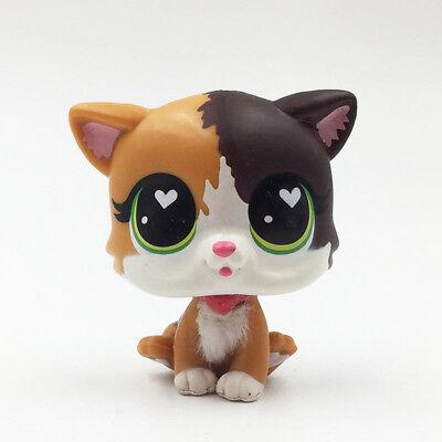 2pcs//Lot Kid Toy rare animal Pet Shop LPS#106#339 Short Hair Cats