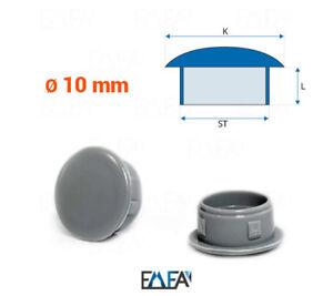 50 Stck Abdeckstopfen 15x12 mm Anthrazitgrau Blindstopfen Kunststoff Verschlusskappe