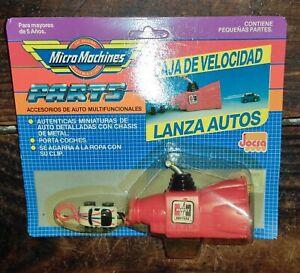VINTAGE ULTRA RARE MICRO MACHINES ARGENTINA HURST RED VELOCITY BOX GALOOB MOC