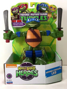NEW-Nickelodeon-Half-Shell-Heroes-6-034-NINJA-TURTLES-Motion-Figure-LEO-Leonardo