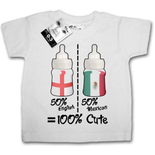 Baby T-Shirt Personalise 50/% English Scottish Welsh Irish Any Country Flag