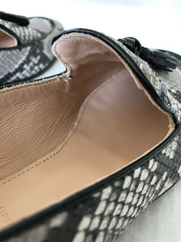 New J Crew Charlie Charlie Charlie Tassel Loafers Snakeskin Printed Leather 6  F5592 shoes  198 c2bf39