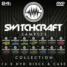 SWITCHCRAFT SAMPLES 14 x DVD - 24BIT WAV STUDIO / MUSIC PRODUCTION GIFT SET