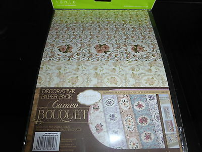 TONIC CAMEO BOUQUET LOVELY PAPER PACK 10 DESIGNS DOUBLE SIDED CARD MAKING