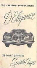 1953 Chrysler D'Elegance Experimental Concept Brochure 111476-VBR1DC