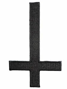 Inverted-Cross-Satanic-Black-Metal-Gothic-Pagan-Iron-On-Embroidered-Patch-3-9-034
