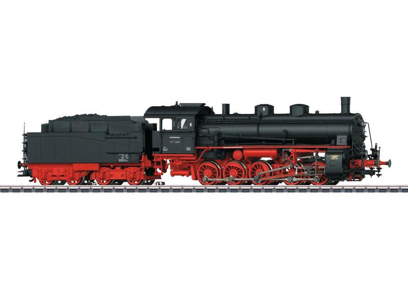 39553 gravi TRENO MERCI-Locomotiva a vapore della filiera 57.5 Merce Nuova
