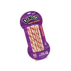 Dingo Twist Sticks Rawhide Chews Made With Real Chicken