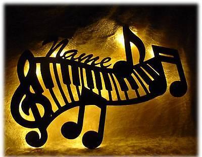 Piano Tasten Lampe Nachtlicht Deko Name Geschenk für Musiker Musikschule