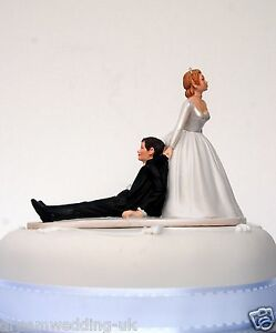 bride dragging groom wedding cake toppers quot now i you quot dragging groom humorous 12132
