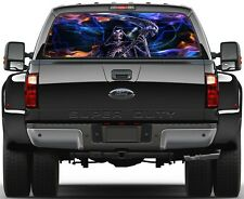 Grim Reaper Skulls Fire Rear Window Graphic Decal Truck SUV Van Car