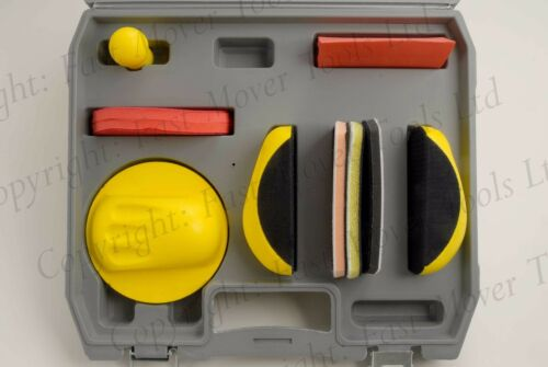 HAND RUBBING SANDING BLOCK KIT HOOK LOOP GRIP SANDER 150MM DA DISC SAND PAPER