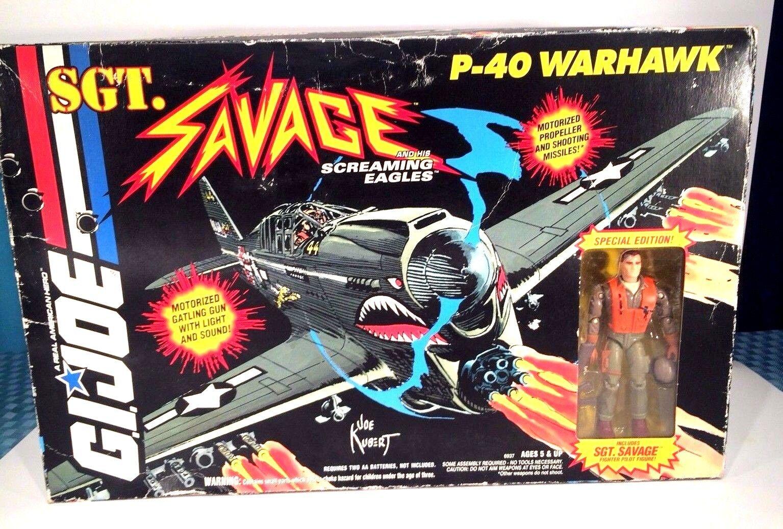 G.i. joe sergeant savage p-40 warhawk mit special edition sergeant savage kampfpilot