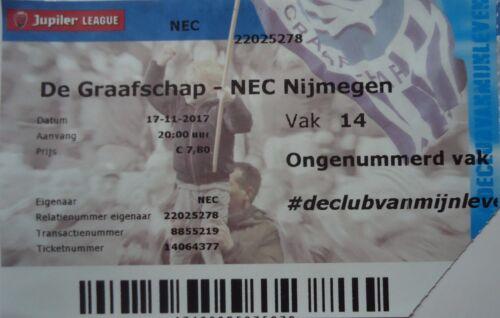 NEC Nijmegen TICKET Niederlande 2017//18 De Graafschap