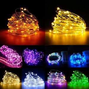 50-100-LED-BATTERY-MICRO-RICE-WIRE-COPPER-FAIRY-STRING-LIGHTS-CHRISTMAS-PARTY-vv