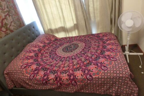 100/% cotton Indian Tapestry Bed sheet Wall hanging or Mandela