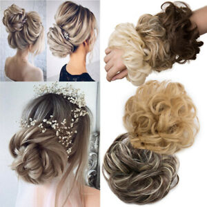 Curly-Messy-Bun-Hair-Piece-Scrunchie-Updo-False-Hair-Extensions-AS-Real-Human
