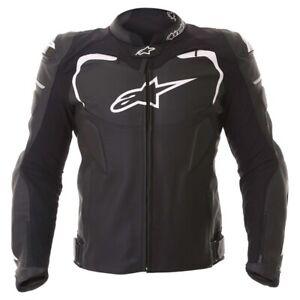 Alpinestars-GP-Pro-Leather-Sport-Motorcycle-Motorbike-Jacket-Black-White