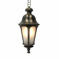 Outdoor Exterior Hanging Porch Light Pendant Lantern Fixture Frost Glass
