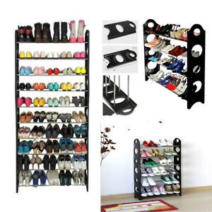 Shoe-Rack-Organizer-Shelf-Stand-Wall-Closet-Cabinet-Storage-Holder-4-6-10-Tier