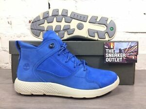 NEW-Kids-Timberland-Flyroam-Leather-Boots-Royal-Blue-UK-Size-1-5-6-5