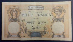 1000 Francs Ceres Et Mercure Type 1927 Modifié - 03/11/1938 U8x6pe9q-07234150-504049876