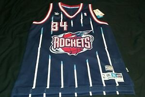 release date: c09c9 1fa57 Details about NEW Authentic Adidas Houston Rockets Hakeem Olajuwon #34  Jersey 2XL XXL (Blue)