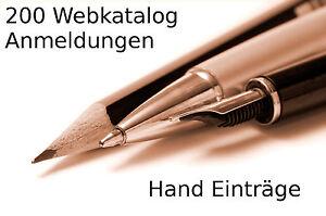 200 Webkatalog Anmeldungen - Link Aufbau SEO - Webseiten Besucher - Werbung PR