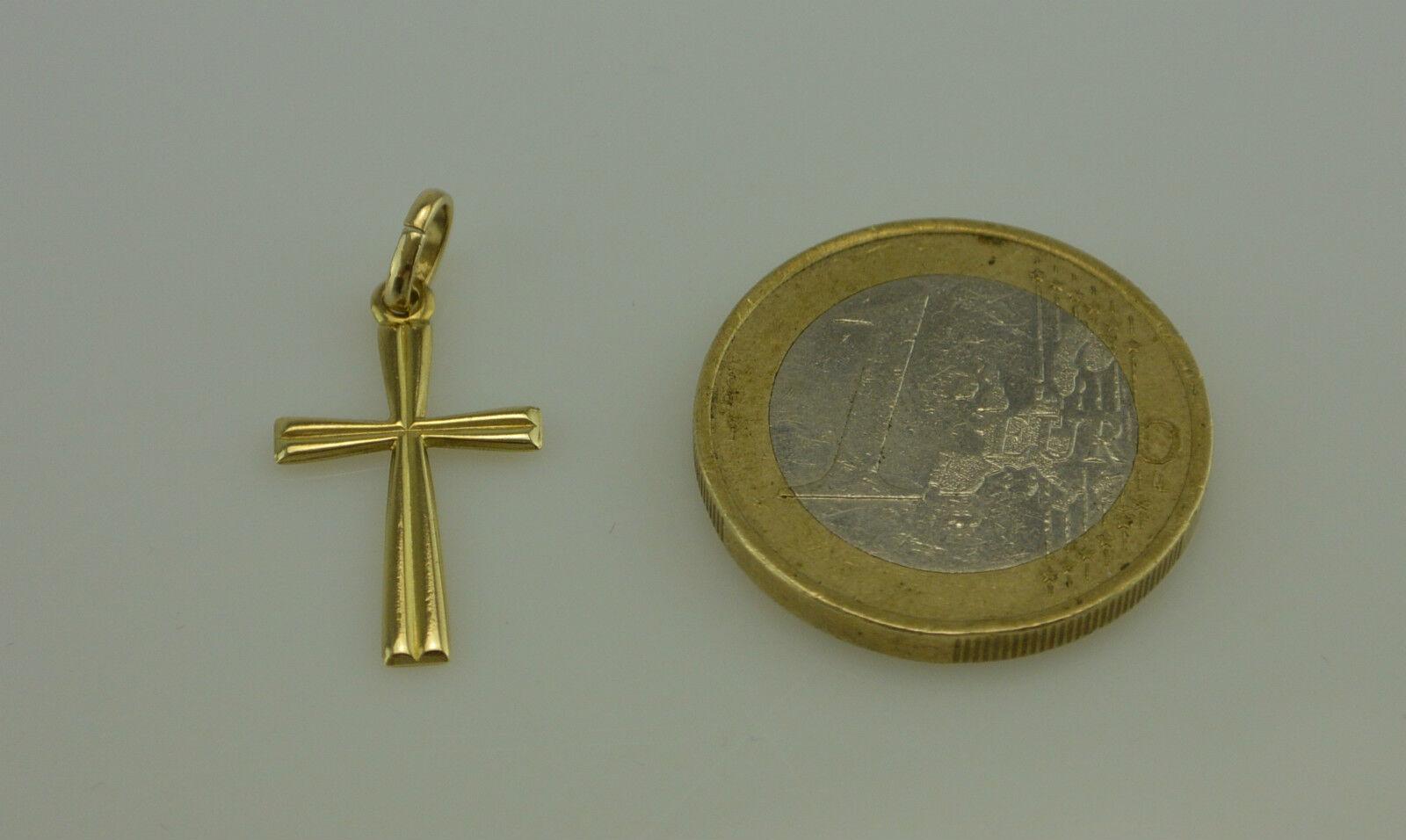 Semplice & Elegante Croce Croce Croce 333er - 8 carati giallo 8edb46