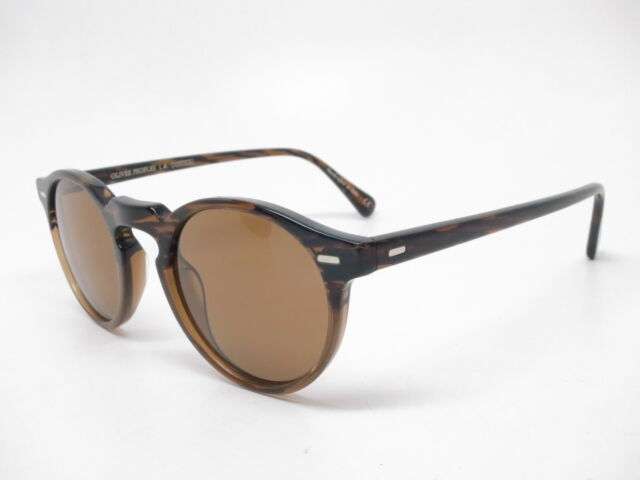 cd5638d27187 Oliver Peoples OV 5217S Gregory Peck Sun 100153 Tortoise w B15 Brown  Sunglasses