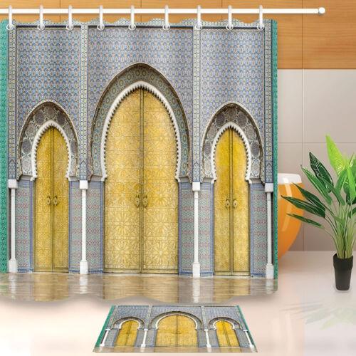 Imperméable Polyester Maroc Palais mur porte rideau de douche salle de bain Tapis de bain