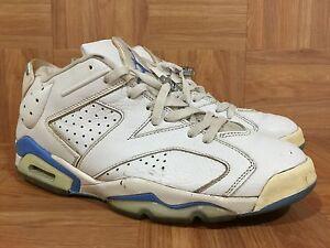 fc02d93688e RARE🔥 Nike Air Jordan 6 VI RETRO LOW White University Blue 11.5 ...
