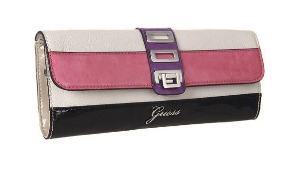 Original Nwt Guess Astrella Überschlag Handtasche Clutch, Weiß Multi | Clever und praktisch